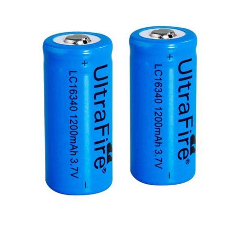 2x wiederaufladbare 16340 Batterien